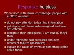 response helpless
