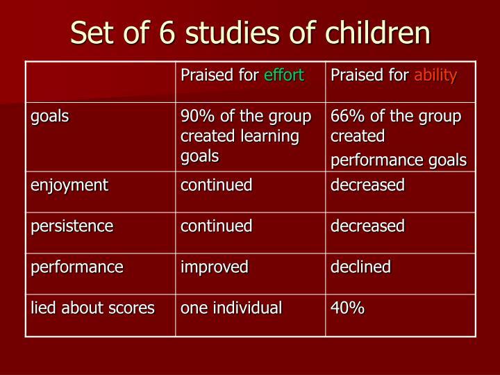 Set of 6 studies of children
