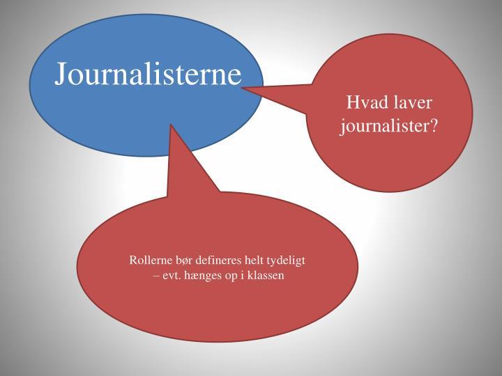 Hvad laver journalister?