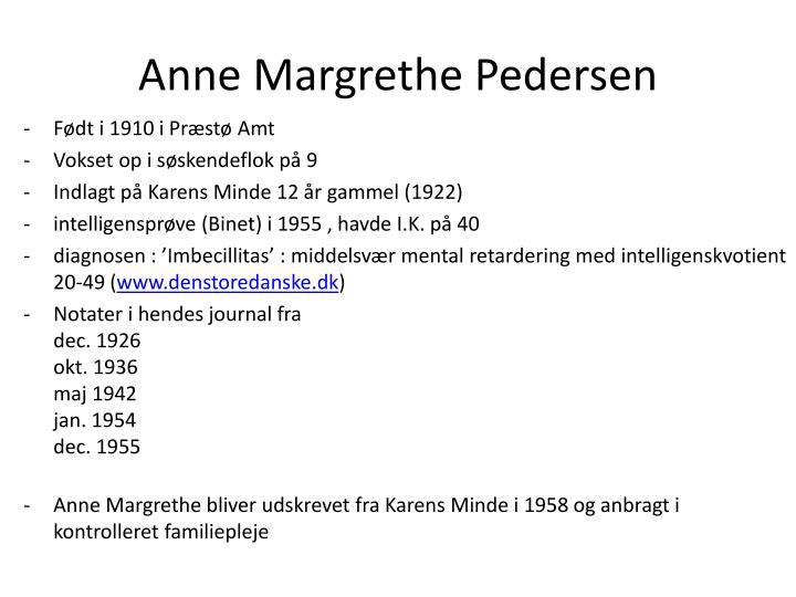 Anne Margrethe Pedersen