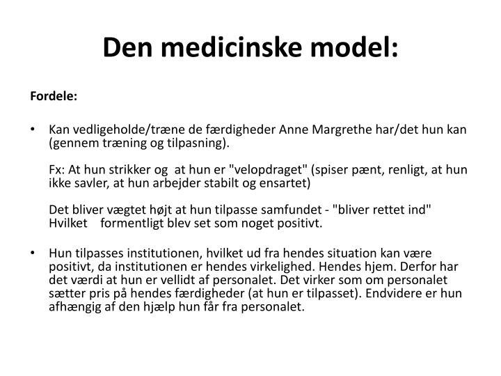 Den medicinske model: