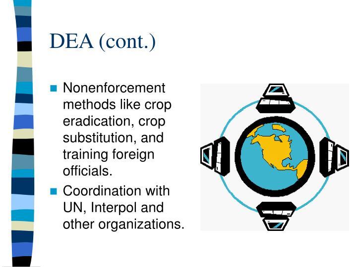 DEA (cont.)