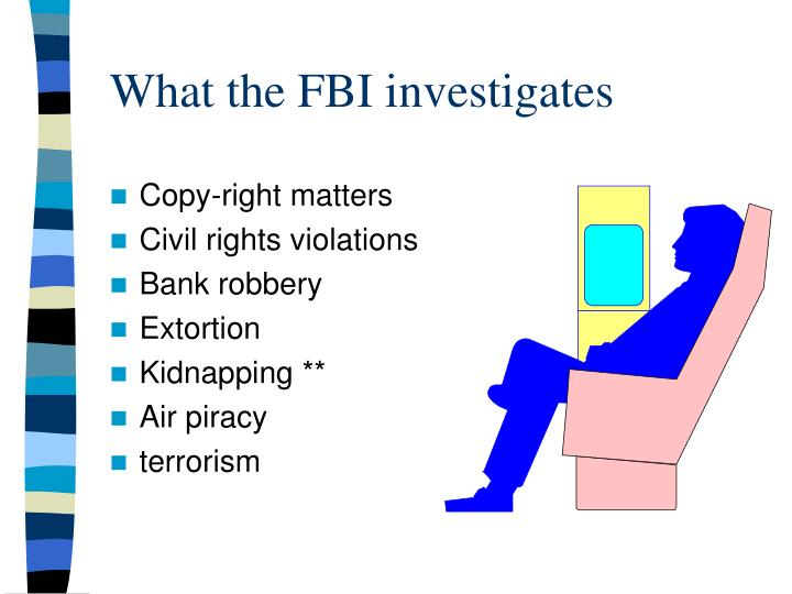 What the FBI investigates