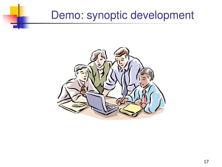 Demo: synoptic development