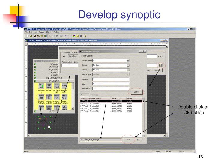 Develop synoptic