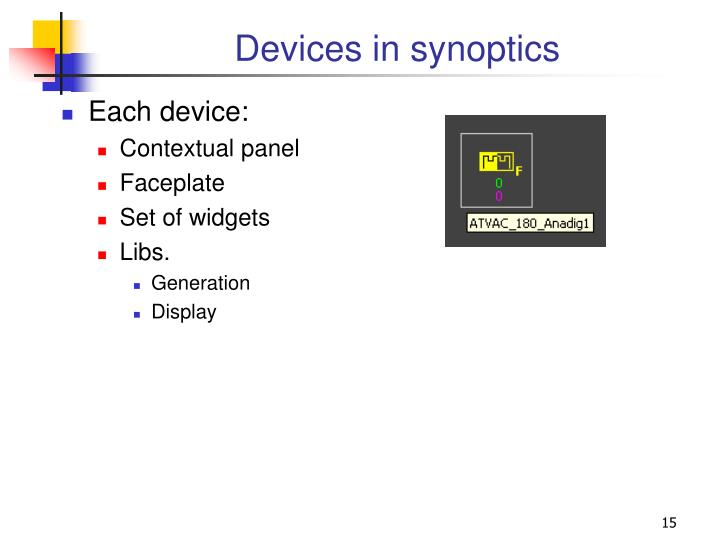 Devices in synoptics