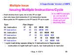 issuing multiple instructions cycle2