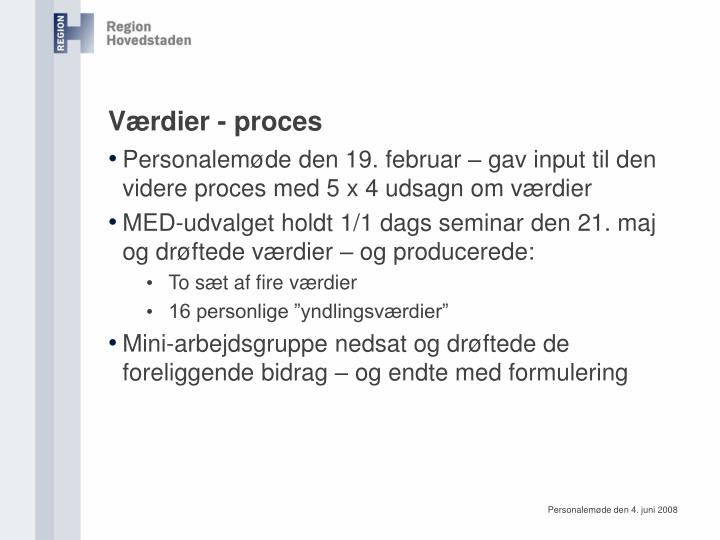 Værdier - proces