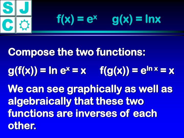 f(x) = e