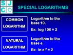 special logarithms