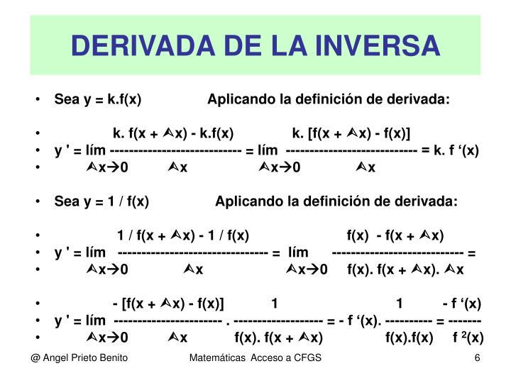 DERIVADA DE LA INVERSA