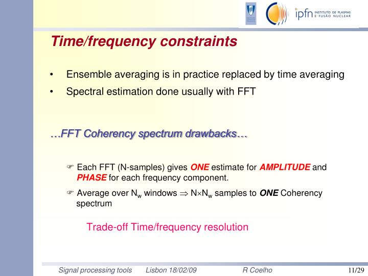 Time/frequency constraints