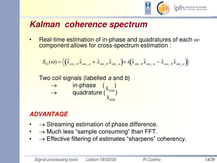 Kalman  coherence spectrum