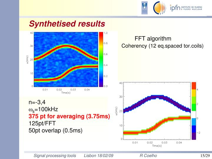 Synthetised results