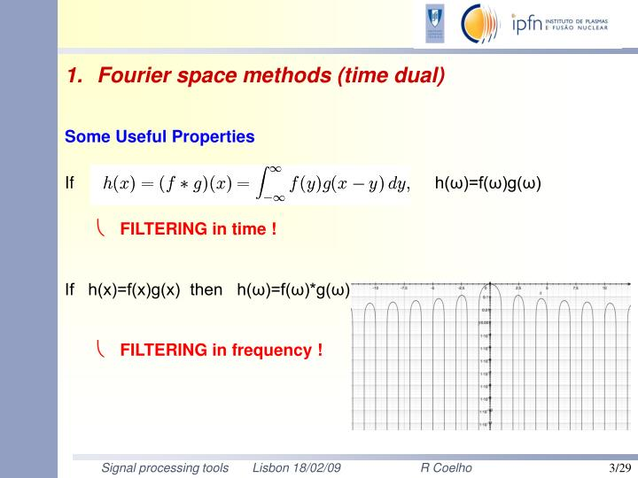 Fourier space methods (time dual)