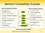 behavior compatibility example