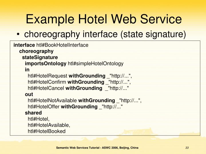 Example Hotel Web Service