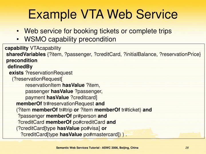 Example VTA Web Service