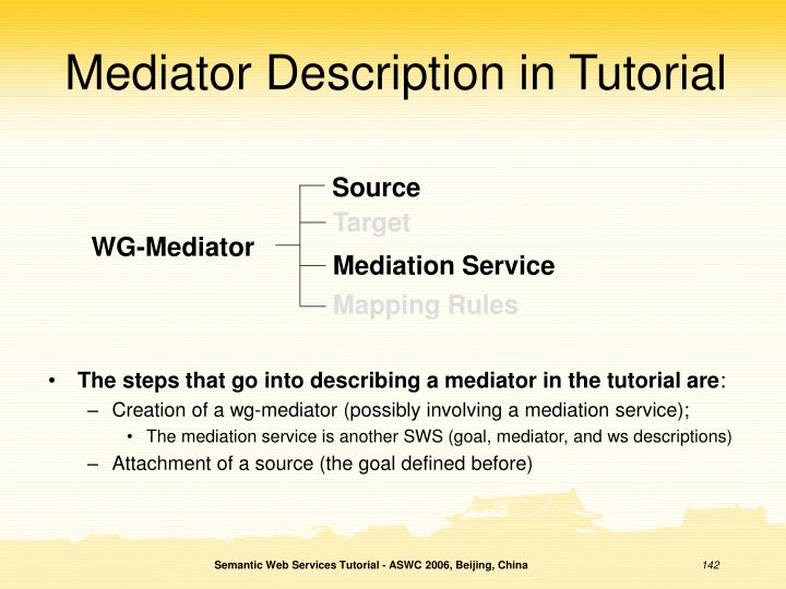 Mediator Description in Tutorial