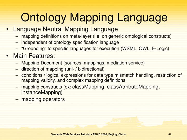 Ontology Mapping Language