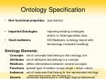 ontology specification