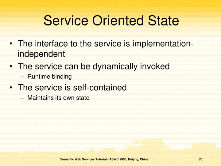 Service Oriented State