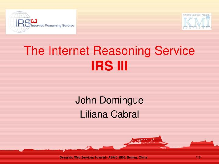 The Internet Reasoning Service