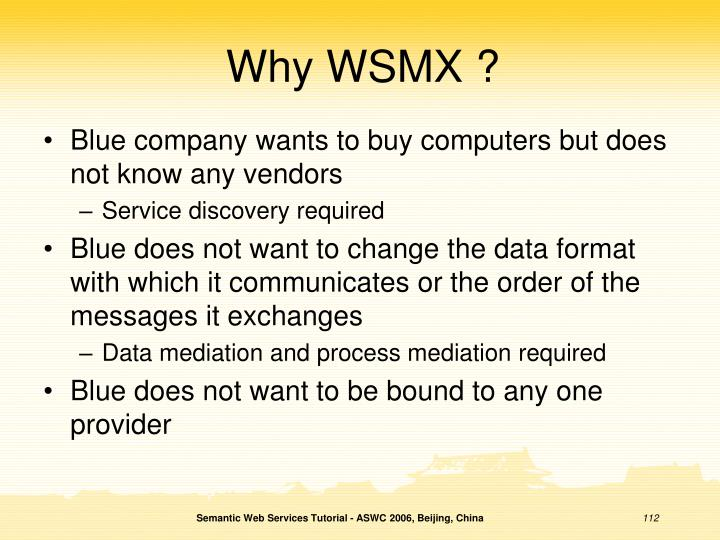 Why WSMX ?