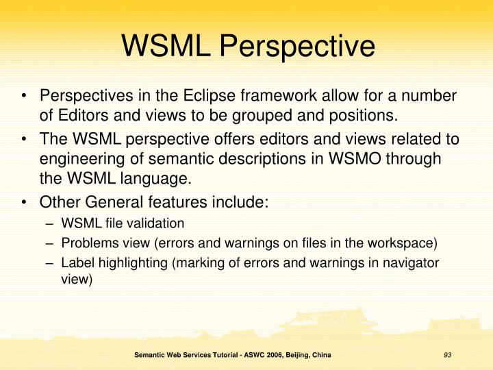 WSML Perspective