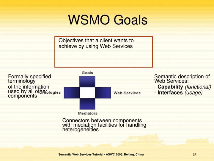 WSMO Goals