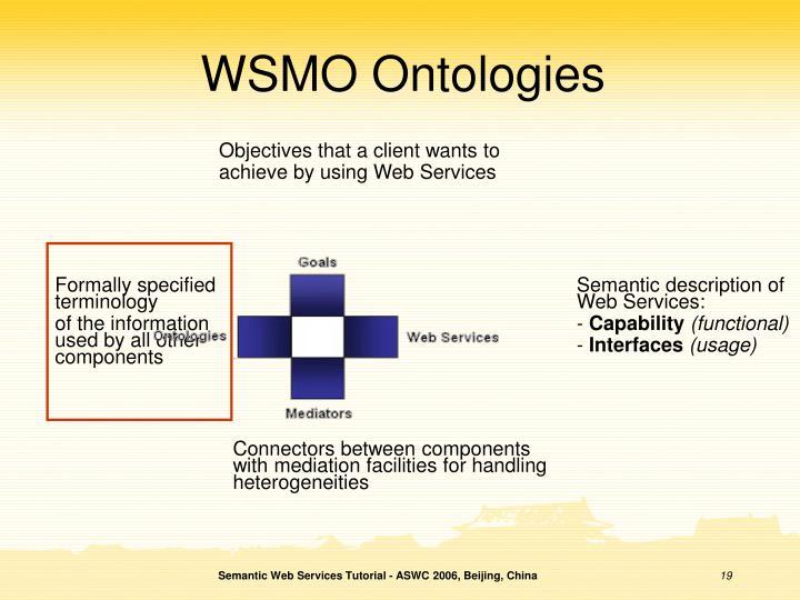WSMO Ontologies