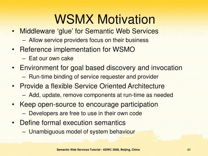 WSMX Motivation