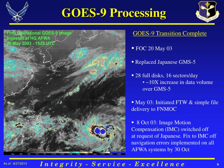 GOES-9 Processing
