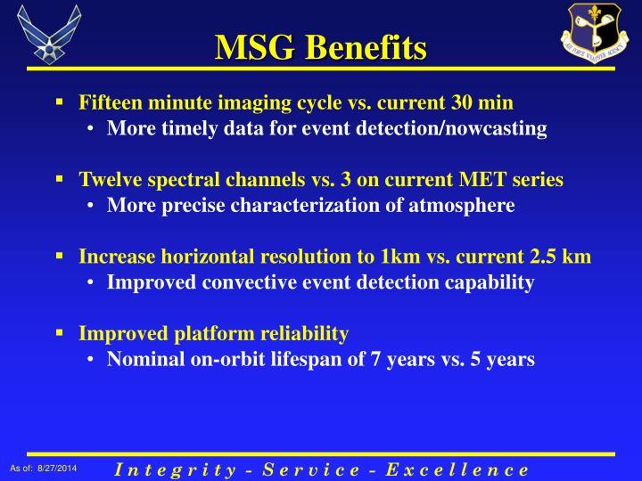 MSG Benefits