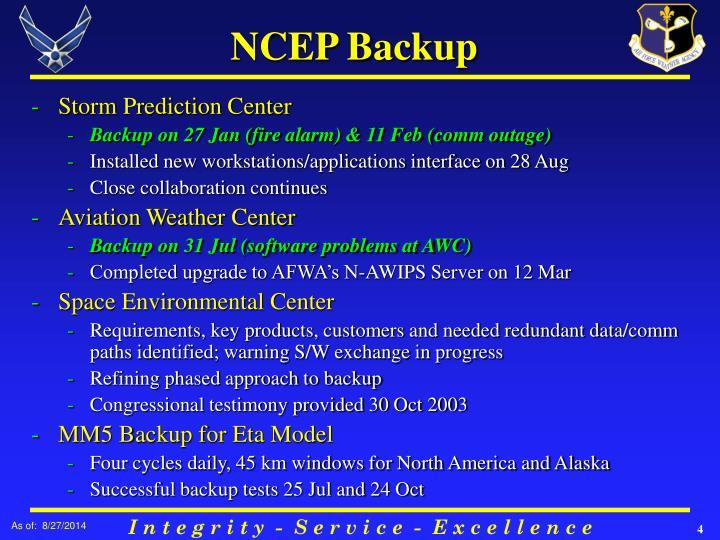 NCEP Backup
