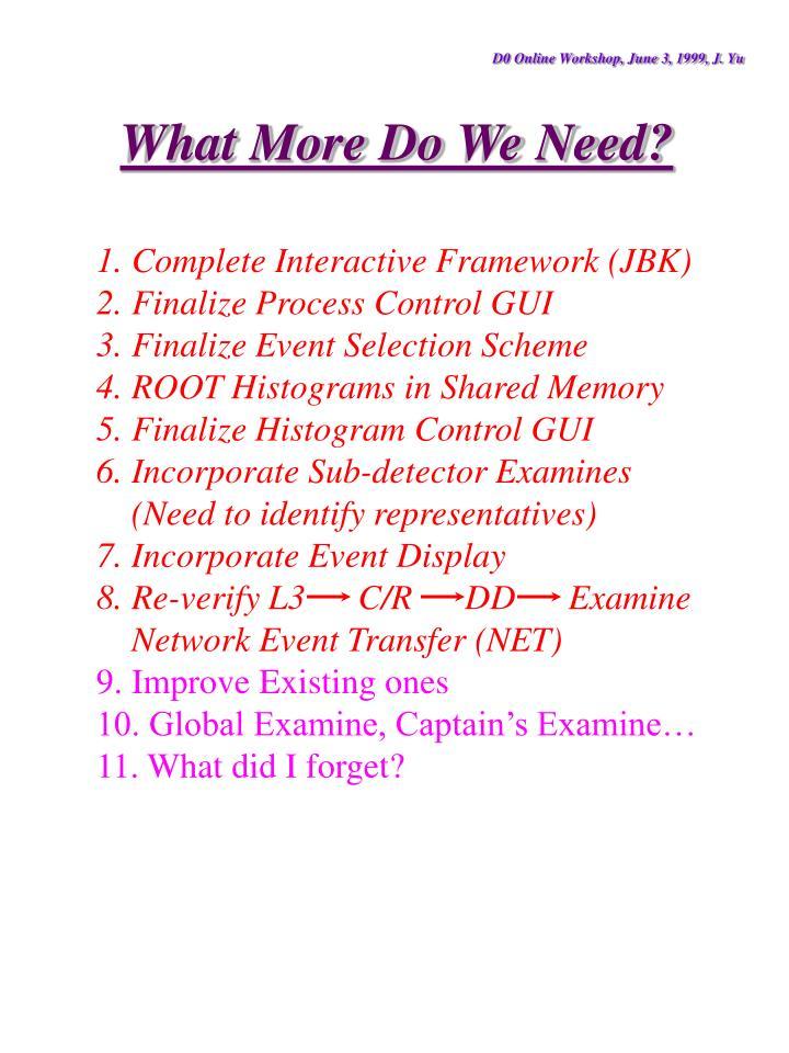 D0 Online Workshop, June 3, 1999, J. Yu