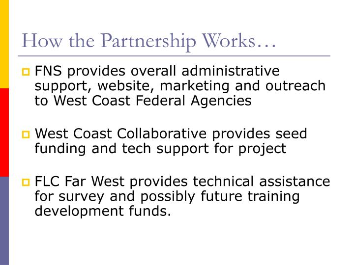 How the Partnership Works…