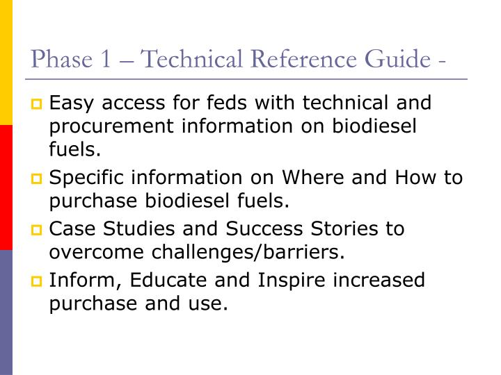 Phase 1 – Technical Reference Guide -