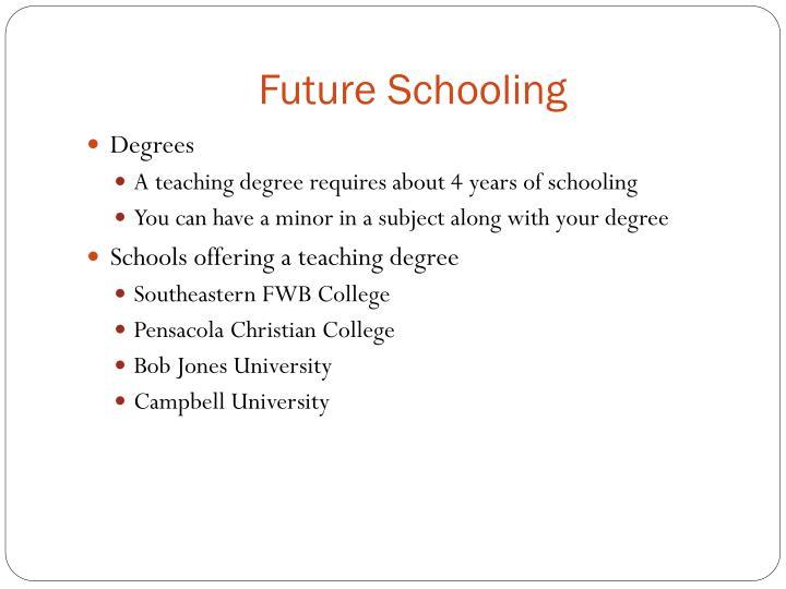 Future Schooling
