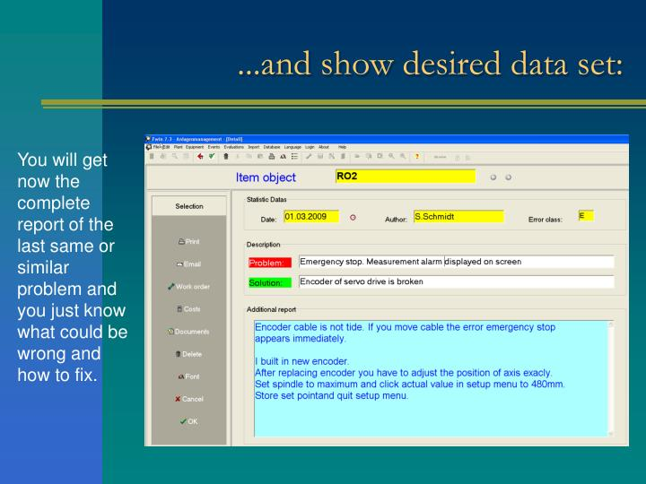 ...and show desired data set:
