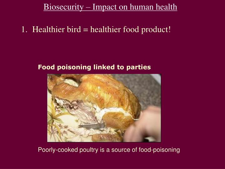 Biosecurity – Impact on human health