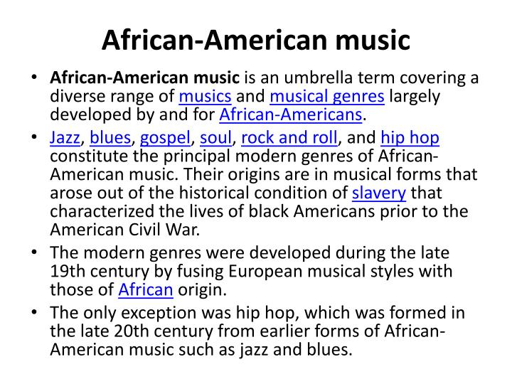 African-American music
