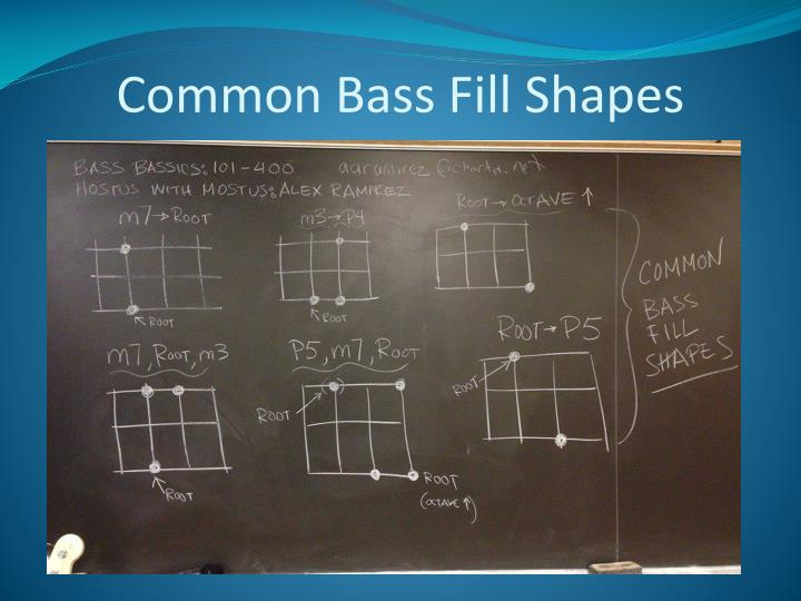 Common Bass Fill Shapes
