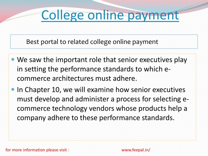 college online payment n.