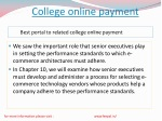college online payment