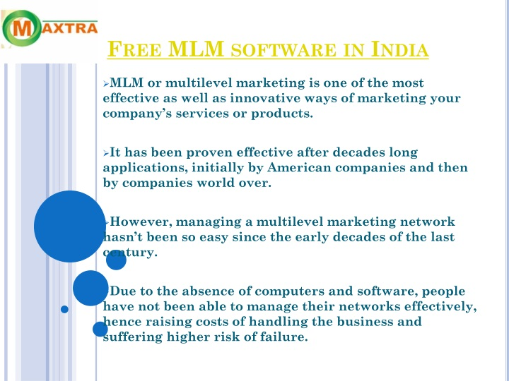 Free MLM software in India