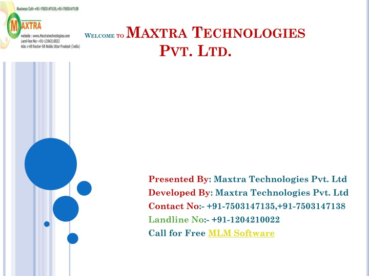 Welcome to maxtra technologies pvt ltd