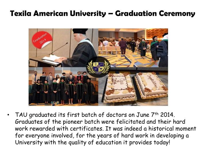 Texila american university graduation ceremony