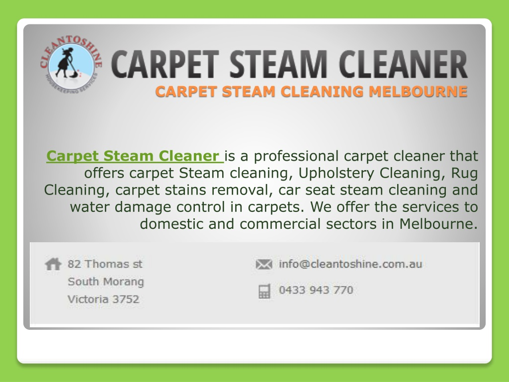 Carpet Steam Cleaning Melbourne N