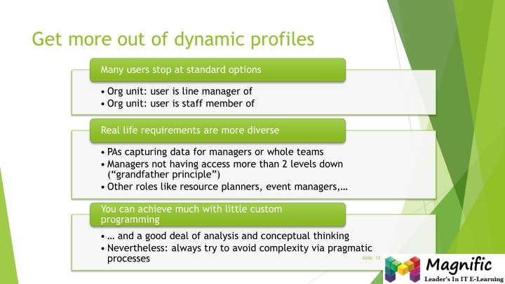 Get more out of dynamic profiles